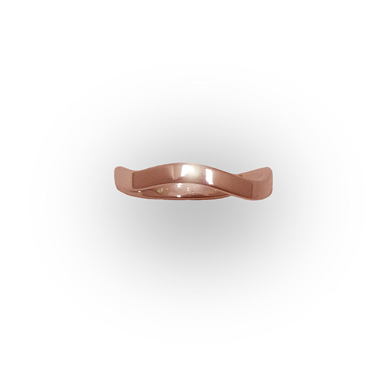 WAVE RING_ROSE GOLD_THUMB