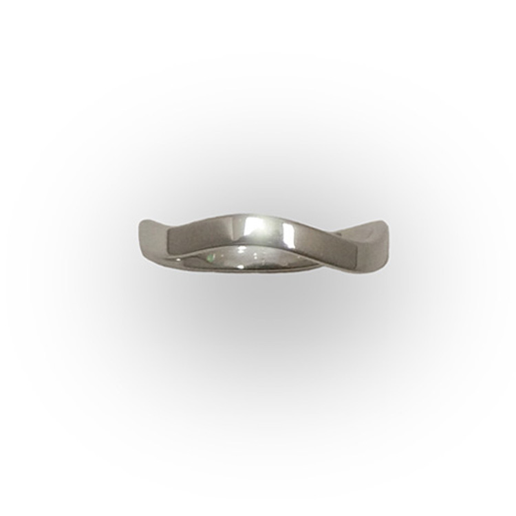 WAVE RING_WHITE GOLD_THUMB