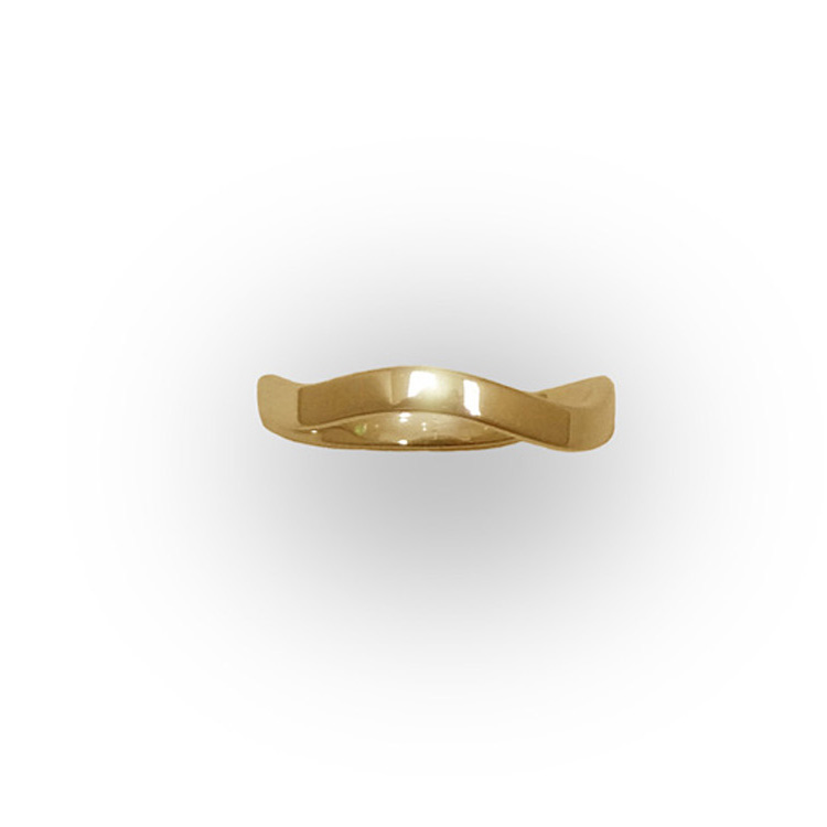 WAVE RING_YELLOW GOLD_THUMB