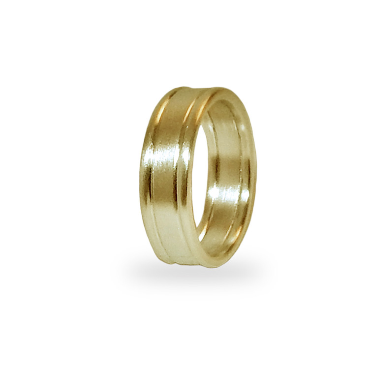 SATIN BAND DOUBLE WIRE_YELLOW GOLD_THUMB