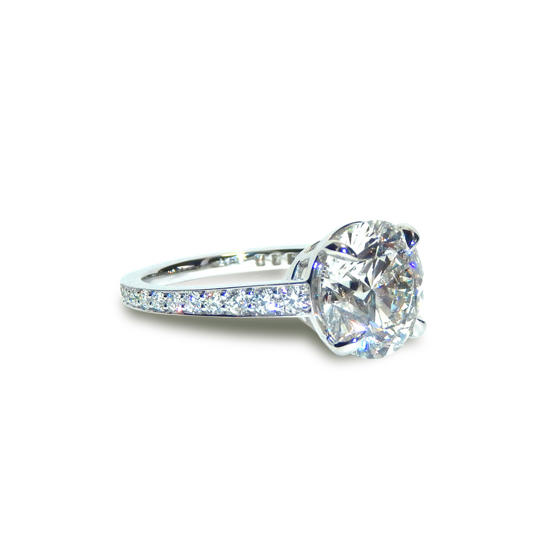 4CT ROUND DIAMOND ENGAGEMENT RING PLATINUM_V3